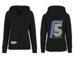 Hoodie with zipper Woman's Black - 5th Anniversary of Buell Friends Czech(o)Slovakia
