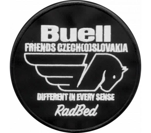 Naszywka Buellfriends Czech (o) Słowacja owalna 12 cm z nazwą