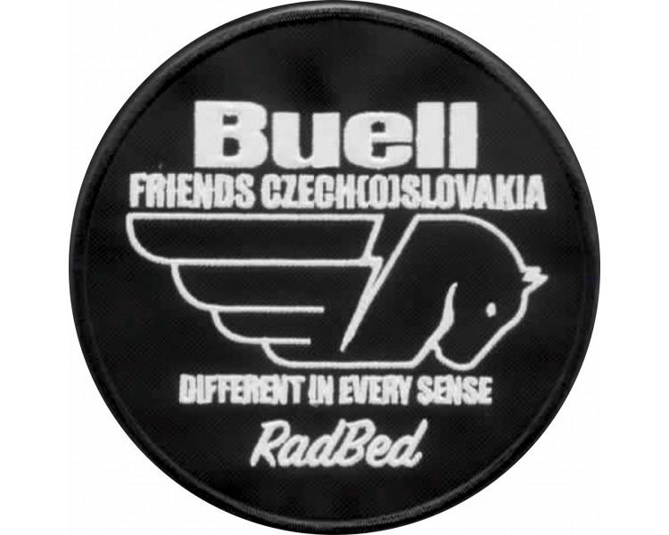 Nášivka Buellfriends Czech(o)Slovakia klubová oválná 12 cm se jménem